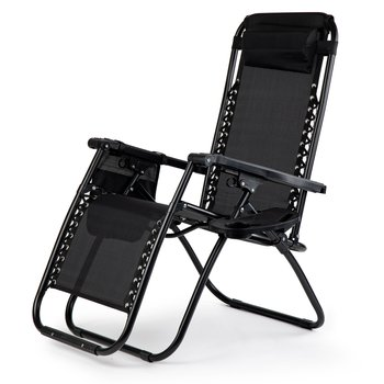 Fotel ogrodowy MODERNHOME, czarny-Modernhome