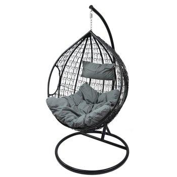 Fotel wiszący Cocoon, czarno-szary, 100x70x115 cm-VS