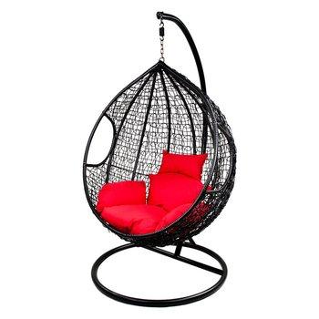 Fotel wiszący Cocoon, czarny, 100x70x115 cm-VS