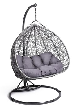 Fotel wiszący DIVOLIO Foggio, szary, 135x110x75 cm-DiVolio