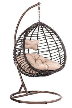 Fotel wiszący Kokon DIVOLIO Napoli I, brązowy, 105x195 cm-DiVolio