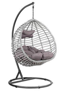 Fotel wiszący kokon DIVOLIO Napoli I, szary, 110x108x70cm-DiVolio