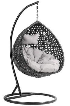 Fotel wiszący kokon DIVOLIO Para I, czarny, 195x105x105 cm-DiVolio