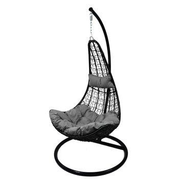 Fotel wiszący Slim, czarno-szary, 105x195 cm-VS