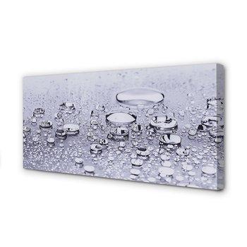 FotoObraz na płótnie TULUP Krople woda makro 100x50 cm-Tulup