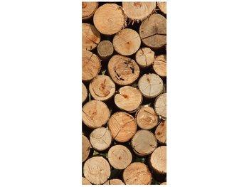 Fototapeta Stos drewna, 95x205 cm-Oobrazy