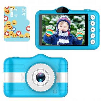 Frahs, mini aparat cyfrowy dla dzieci 2 kamery HD 12 Mpx + Karta Pamięci 4 GB-Frahs