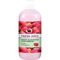 Fresh Juice, kremowy żel pod prysznic Liczi i Malina, 500 ml