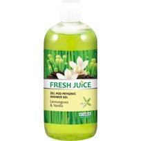 Fresh Juice, kremowy żel pod prysznic Trawa cytrynowa i Wanilia, 500 ml