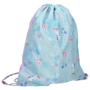 Frozen, worek - plecak, błękitny-Frozen - Kraina Lodu