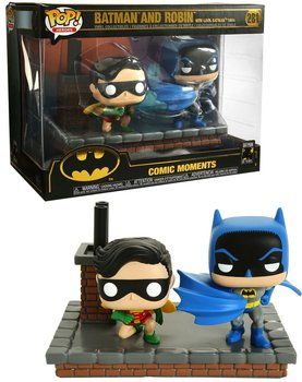 Funko POP, figurka kolekcjonerska Batman and Robin Comics Moments 281 2pa-Funko POP