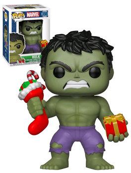 Funko POP, Marvel, figurka Hulk świąteczny-Funko POP