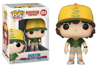 Funko, POP TV, figurka Stranger Things S3 Dustin (At Camp)-Funko POP