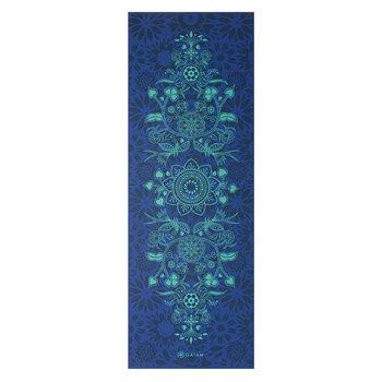 Gaiam, Mata do jogi dwustronna, niebieski, 173x61cm-GAIAM