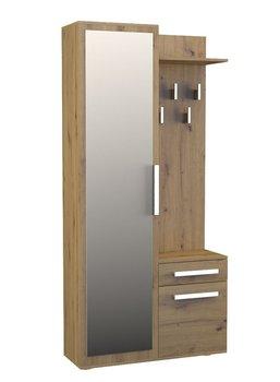 Garderoba ELIOR Kaya 2X, dąb artisan, 180x35x100 cm-Elior