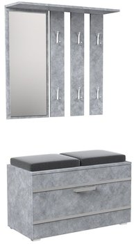 Garderoba ELIOR Malea, beton, 85x41x180 cm-Elior