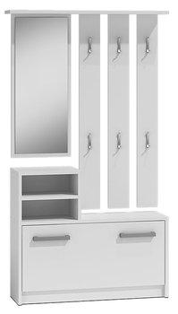 Garderoba z lustrem ELIOR Salma, biała, 85x24x180 cm-Elior
