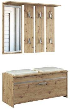 Garderoba z lustrem i wieszakiem Avila - dąb artisan 128x100x38-Elior