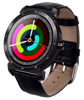 Garett, Smartwatch, GT20S, czarny, skórzany-Garett