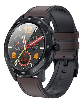 Garett, Smartwatch, GT22S, ciemny brąz, skórzany-Garett