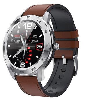 Garett, Smartwatch, GT22S, jasny brąz, skórzany-Garett