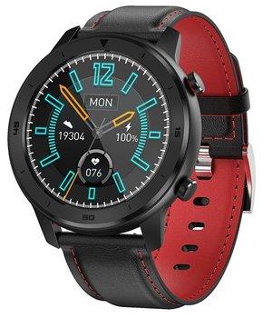 Garett, Smartwatch, Men 5S, czarno-czerowny, skórzany-Garett
