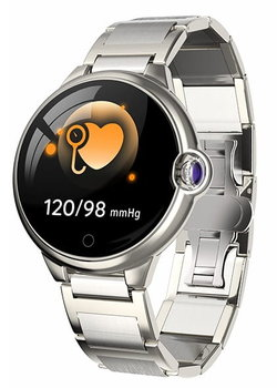 Garett, Smartwatch, Women Karen, srebrny, stalowy-Garett