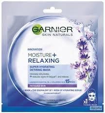 Garnier, Moisture+Relaxing Super Hydrating Detiring Mask, nawilżająca maska kompres do twarzy-Garnier