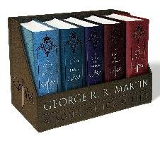 George R. R. Martin's A Game of Thrones Leather-Cloth Boxed Set (Song of Ice and Fire Series)-Martin George R. R.