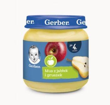 Gerber, Deserek mus z jabłek i gruszek dla niemowląt po 4 miesiącu, 125 g-Gerber