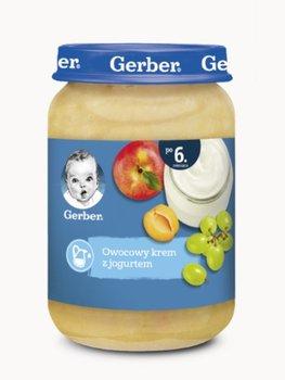 Gerber, Deserek owocowy krem z jogurtem dla niemowląt po 6 miesiącu, 190 g-Gerber