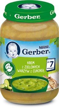 Gerber, Krem z zielonych warzyw z cukinią, 190 g-Gerber