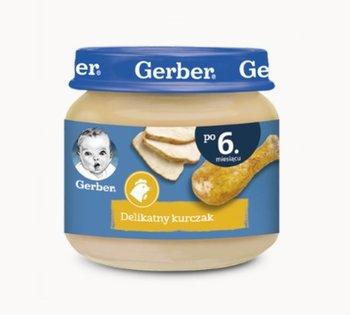 Gerber, Obiadek Delikatny kurczak dla niemowląt po 6 miesiącu, 80 g-Gerber
