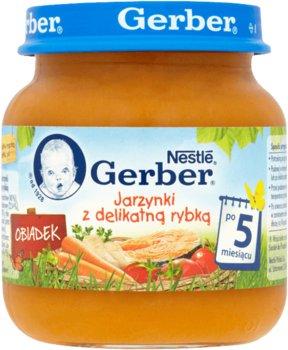 Gerber, Obiadek, Jarzynki z delikatną rybką, 130 g, 5m+-Gerber