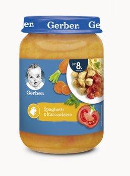 Gerber, Obiadek Spaghetti z kurczakiem dla niemowląt po 8 miesiącu, 190 g-Gerber