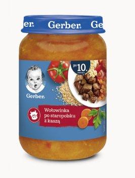 Gerber, Obiadek Wołowinka po staropolsku z kaszą dla niemowląt po 10 miesiącu, 190 g-Gerber