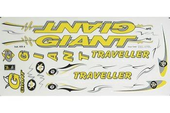 Giant, Zestaw naklejek KR4, żółty, 20 szt.-Giant