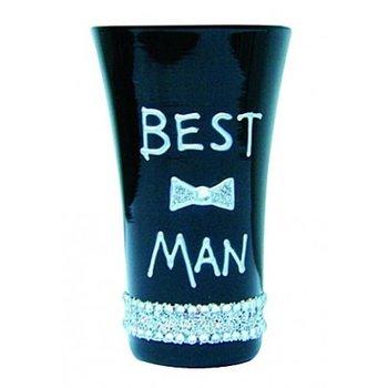 Gift World, Kieliszek, Best Man, czarny, 60 ml-Gift World