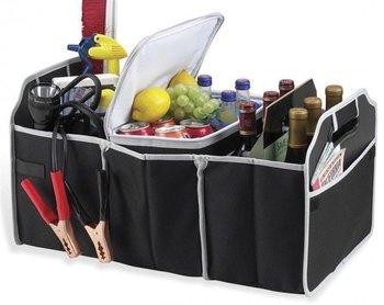 Gift World, Organizer/ torba do bagażnika samochodowego, czarno-szara, 55x32 cm-Gift World