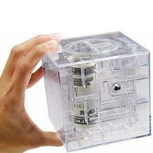 Gift World, Skarbonka labirynt, 9x9 cm-GM Gadget Master