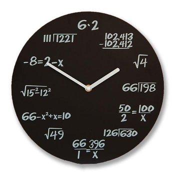 Gift World, Zegar ścienny, matematyczny, czarny-GADGET