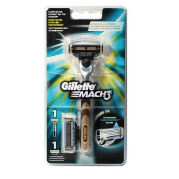 Gillette, Mach 3, maszynka do golenia + wkład 1 szt.-Gillette