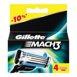 Gillette, Mach3, wymienne ostrze do maszynki, 4 szt.-Gillette