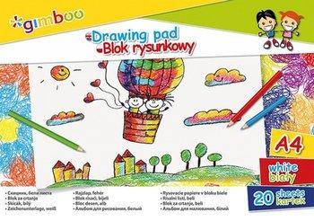 Gimboo, blok rysunkowy, format A4, 20 kartek, 6 sztuk