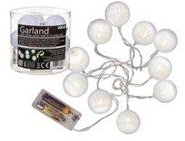 Girlanda LED, rattanowe kule, biała, 1,8 m