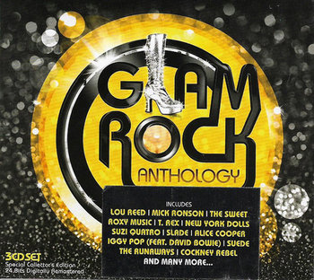 Glam Rock Anthology-The Glitter Band, Quatro Suzi, T. Rex, Slade, Roxy Music, Iggy Pop, Reed Lou, Bowie David
