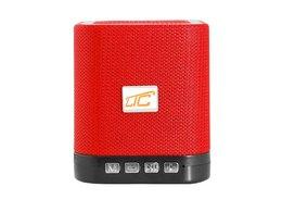 Głośnik Bluetooth LTC KOSTKA  z radiem FM AUX microSD - czerwony