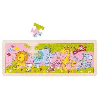 Goki, puzzle drewniane Bajkowe zwierzątka-Goki