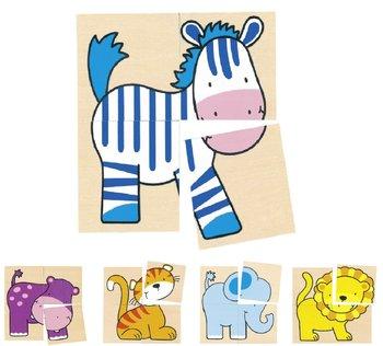 Goki, puzzle-kostki Dzikie zwierzęta-Goki