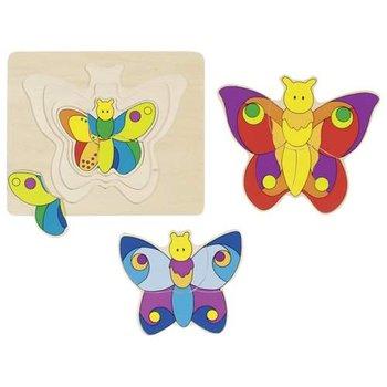 Goki, puzzle wielowarstwowe Motyl-Goki